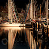 © Paul Conrad/Pablo Conrad Photography  The sun lights the masts of boats moored in Bellingham Harbor in Bellingham, Wash.