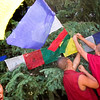 © Paul Conrad/Pablo Conrad Photography - Tibetan monks hang prayer flags in honor of the Dalai Lama's birthday as they visited Aspen, Colo.