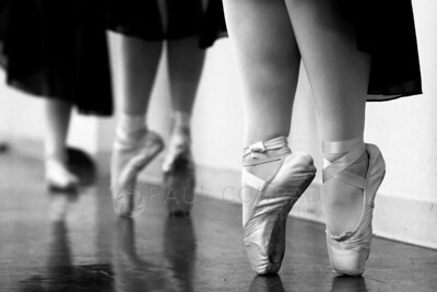 © Paul Conrad/ Pablo Conrad Photography Dancers on pointe during practice and rehearsal in Enid, Okla.