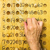 © Paul Conrad/Pablo Conrad Photography -<br /> Bingo master George Heimann keeps track of what was called during Bingo hour at the Pitkin County Senior Center in Aspen, Colo.