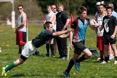© Paul Conrad/Pablo Conrad Photography  Chuckanut Bay Youth Rugby U-16 plays against the visiting  Eastside Rugby Club at the Chuckanut Bay Rugby & Polo Grounds in Ferndale, Wa., on Saturday April 21, 2012.