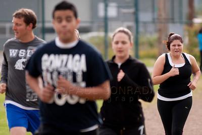 © Paul Conrad/Pablo Conrad Photography Alyssa Moody during her third black belt qualifier at Bellingham High School on Saturday morning June 9, 2012, in Bellingham, Wash.