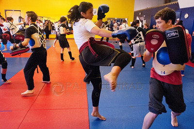 © Paul Conrad/Pablo Conrad Photography Alyssa Moody during her first test at Total Confidence Martial Arts on Saturday morning June 2, 2012, in Bellingham, Wash.