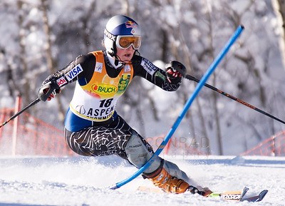 © Paul Conrad/Pablo Conrad Photography Lindsey Vonn of Vail, Colo., crashes a gate during her first run the 2007 Aspen Winternational FIS World Cup giant slalom in December.