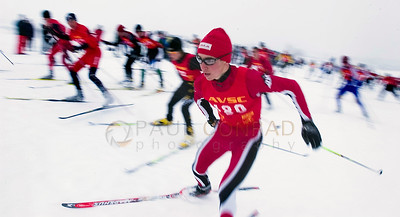 © Paul Conrad/Pablo Conrad Photography Noah Hoffman of Aspen, Colo., bolts out of the start area on his way to a 2nd place victory during the state cross country ski quailifers at Aspen High School.
