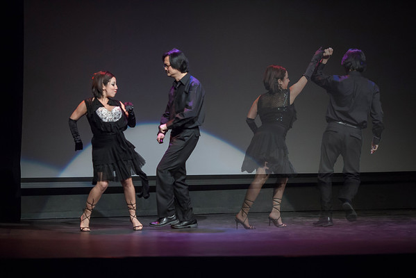 Souls leaving the body of partnering dancers on the Dance Stage