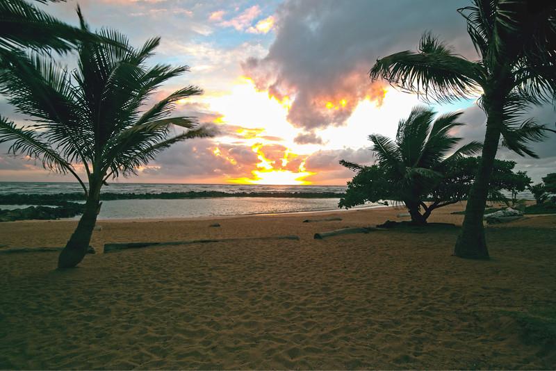 Sunrise at Lydgate Park, Kaua`i, Hawaii