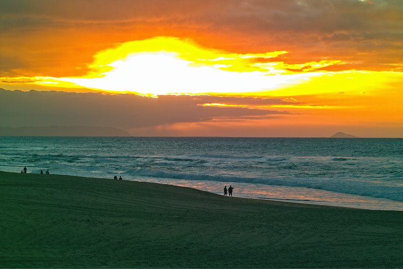 Polihale Beach Sunse over Ni`ihau