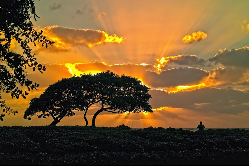 Sunrise at Kaua`i Beach, Hawaii