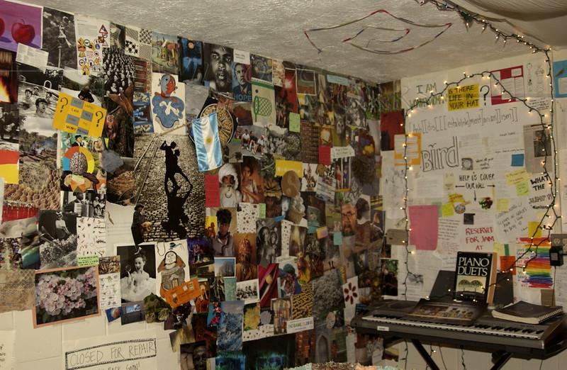 Dorm room collage wall,  Goshen IN  -  11/07/2010 ?