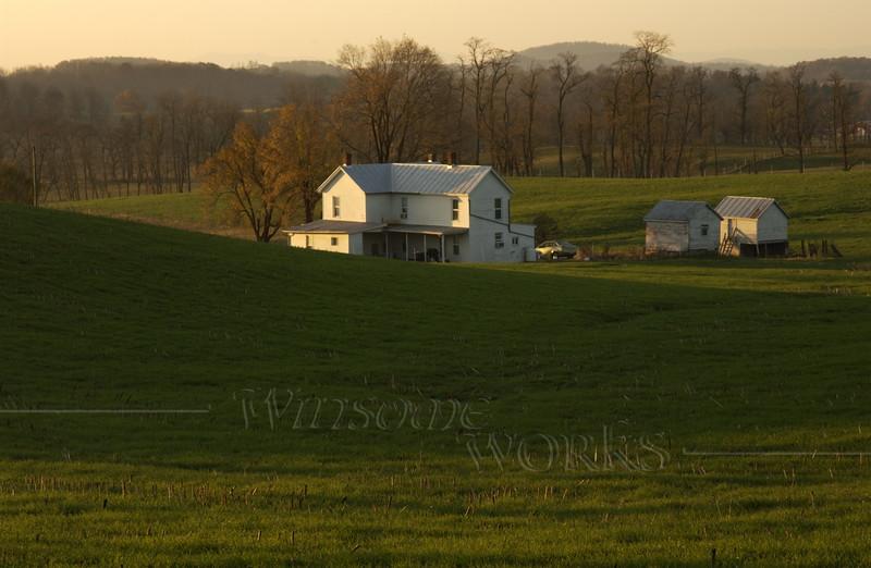 Farm scene in early morning light, Harrisonburg, VA   -  11//2010 ?