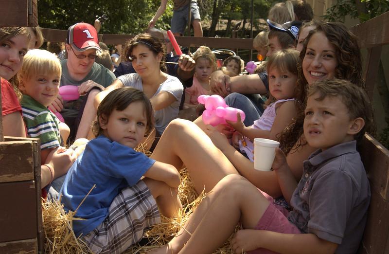 Hay wagon ride, Hunsberger Familty Reunion, Pennsylvania  - 7/05/2011