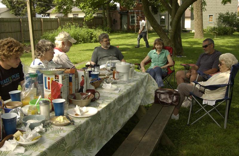 Family in backyard   -   5/18/2012
