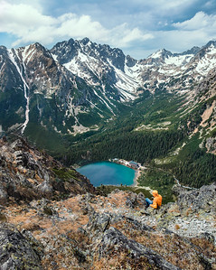 Popradske Pleso, a hidden alpine lake in Slovakia. Steep but highly rewarding hike!