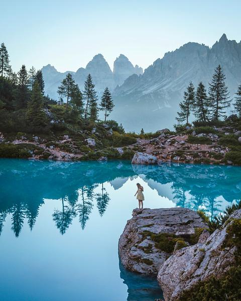 Lago di Sorapis, Cortina d'Ampezzo, Italy