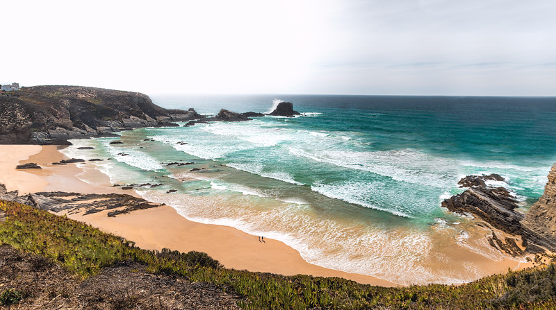 Grand view of Praia de Zambujeira do Mar, Alentejo