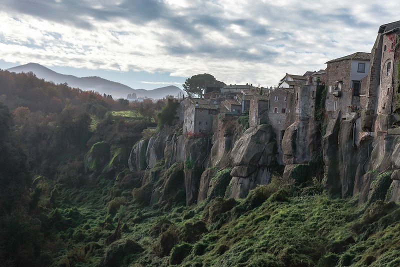 The town of Vitorchiano (VT) in Latium, nestled upon lavic rock. Lord of the Rings vibes!