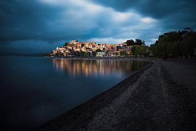 Anguillara Sabazia, Lazio, Italy.  Few minutes before a storm