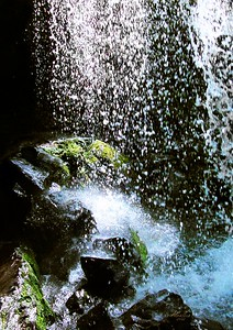 "©Al Gallia; ""Dancing Waters""; Grotto Falls near Gatlinburg, Tennessee."