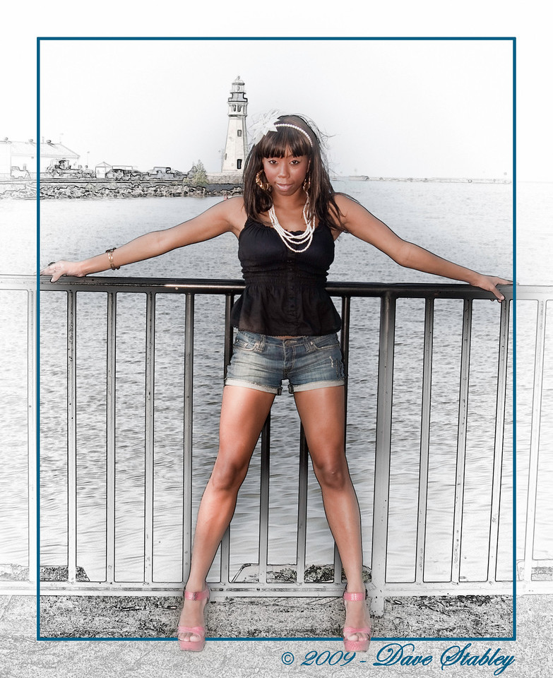 Tirzah at the harbor.