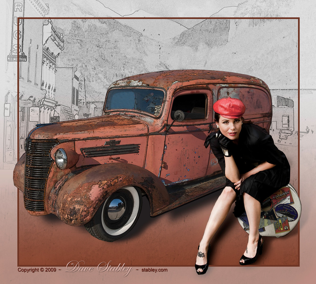 Rusty truck in Telluride - Nicole