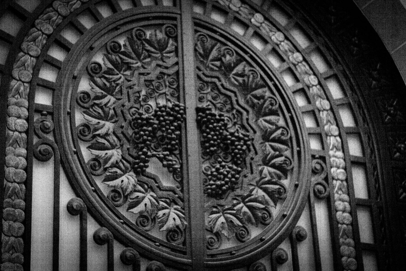 Wrought iron door medallion, Boulevard Voltaire, Paris.