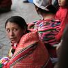 Spectators in the Plaza de Armas, Cuzco, Peru