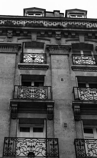 Wrought iron balconies, Boulevard Voltaire, Paris
