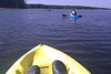 Cell phone capture, kayaking on Lake Jordan