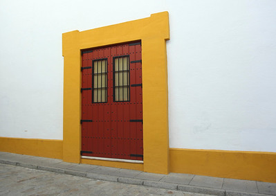 A door to the Bullfighting Rink in Seville, Spain.