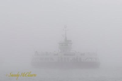 Woodside I in fog.