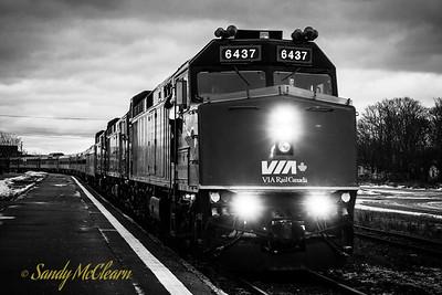 VIA Rail train in Truro, NS.