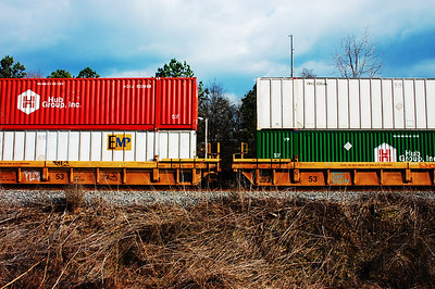 Two container cars. Edited.