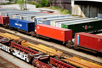 More intermodal containers. Inman Yard, Norfolk Southern. Edited.