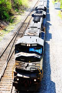 Locomotive, Norfolk Southern. Edited.