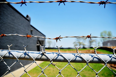Barbed wire fence. Edited.