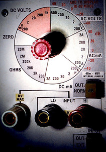Tektronix multimeter panel. Edited.