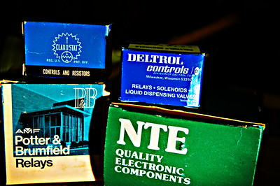 Electronic component boxes. Edited.