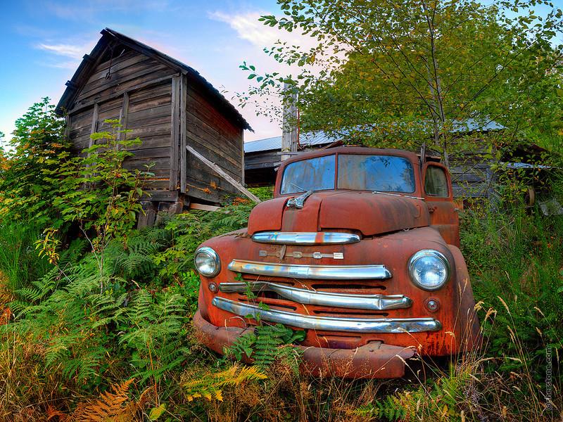 Weathered Western Wood Wagon