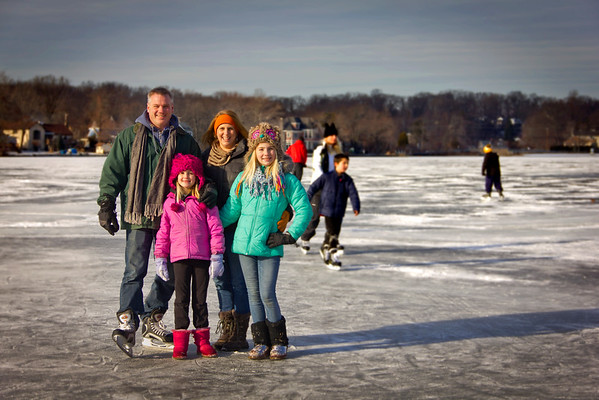 On Frozen Pond, er, Lake