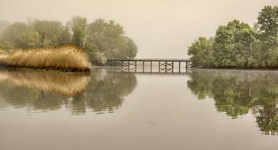 Morning Fog River Marsh