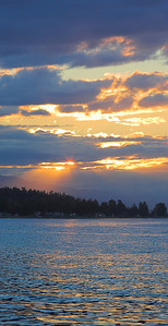 qualicum sunset vertical