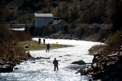 the Utah Council of Trout Unlimited first gives a tour of the new fish bypass facility at the mouth of Weber Canyon. Members of Trout Unlimited and the Division of Wildlife Resources conduct cutthroat trout survey.