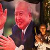 Posing with Sihanouk