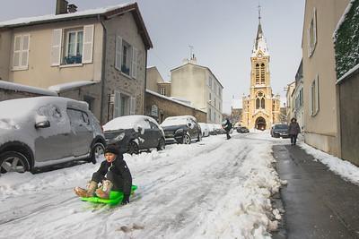 La neige à Rambouillet