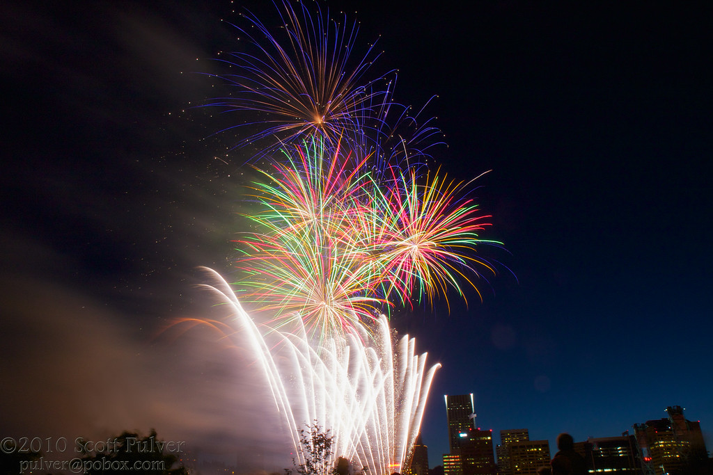 Fireworks over the Willamette