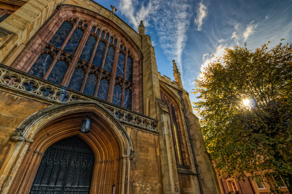 Holy Trinity ChurchThe Holy Trinity Church in Coventry Uk. To bad I didn't have my tripod with me, but i think it came out quite nicely.HDR from three shots, taken with Canon 450D with Sigma 10-20mm lens, handheld.