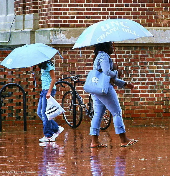 "6-26-06-- Monday -- rainy day at the university of <br /> north carolina, chapel hill -- UNC-Chapel Hill<br /> <br /> Carolina Blue reigns in the rain!<br /> Go Heels!! <br /> <br /> <br /> <br /> ""in my mind, I'm goin' to carolina...""<br /> <br /> -- james taylor"