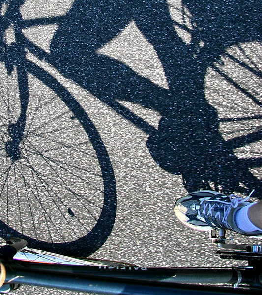 """6-15-06-- Thursday<br /> the geometry of pedal power<br /> <br /> """"I thought of it while riding my bike."""" <br /> <br /> <br /> -- albert einstein"""