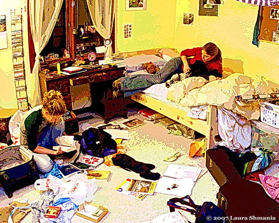 "1-18-08-- friday<br /> my girls... packing to head back to college...<br /> <br /> ""there are people whom one loves immediately and forever. even to know they are alive in the world with one is quite enough.""<br /> <br /> -- nancy spain"